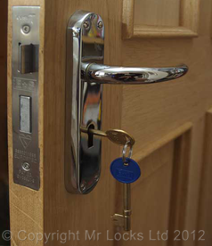 how to put a lock on a door without lock